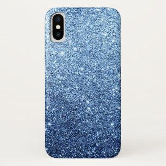 Eleganter Marine-Blau-Glitzer-Luxus iPhone X Hülle