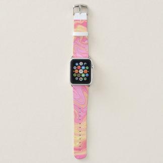 Eleganter Marmor - Pfirsich Apple Watch Armband