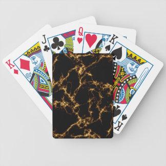 Eleganter Marmor style3 - schwarzes Gold Bicycle Spielkarten