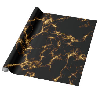 Eleganter Marmor style3 - schwarzes Gold Geschenkpapier