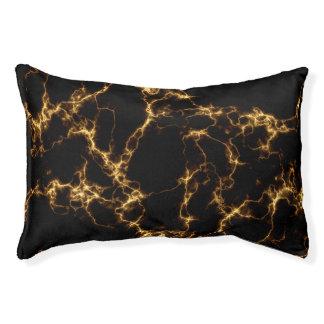 Eleganter Marmor style3 - schwarzes Gold Haustierbett