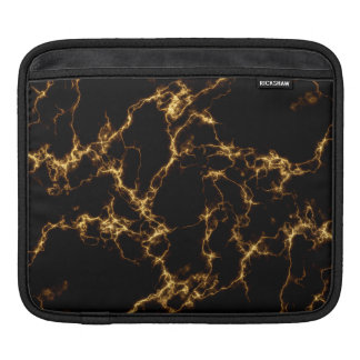 Eleganter Marmor style3 - schwarzes Gold iPad Sleeve