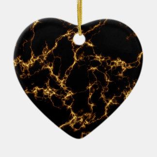 Eleganter Marmor style3 - schwarzes Gold Keramik Ornament
