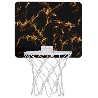 Eleganter Marmor style3 - schwarzes Gold Mini Basketball Netz