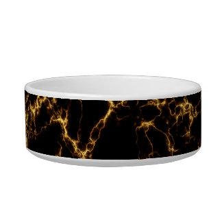 Eleganter Marmor style3 - schwarzes Gold Napf