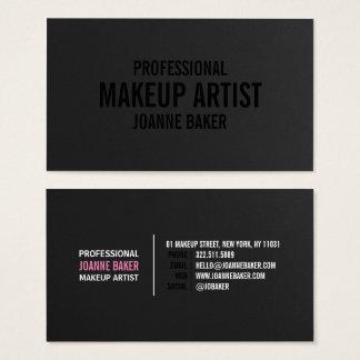 Eleganter Maskenbildner der einfachen schwarzen Visitenkarte