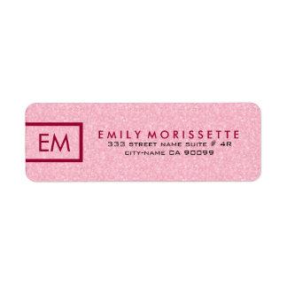 Eleganter moderner einfacher rosa Glitzer und Rot