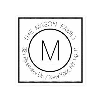Eleganter moderner Monogramm-Name mit Gummistempel