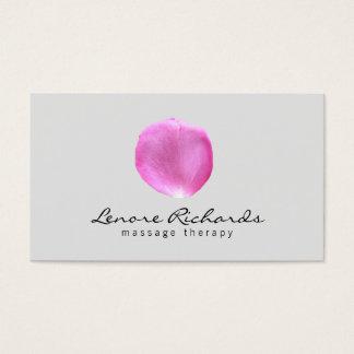 Eleganter Name mit rosa Blumen-Blumenblatt I Visitenkarten