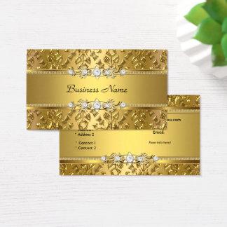 Eleganter nobler Golddamast prägeartiges Bild Visitenkarte