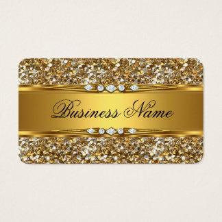 Eleganter nobler GoldGlitter-Diamant-Blick Visitenkarten