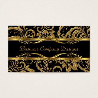 Eleganter nobler Goldschwarz-Damast prägeartiger Visitenkarten