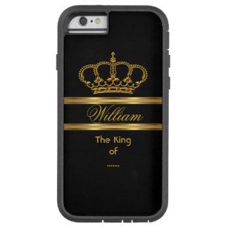Eleganter nobler königlicher König Gold Black Tough Xtreme iPhone 6 Hülle