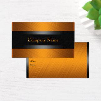 Eleganter orange Rost mit Schwarzem Visitenkarte