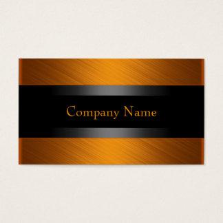 Eleganter orange Rost mit Schwarzem Visitenkarten