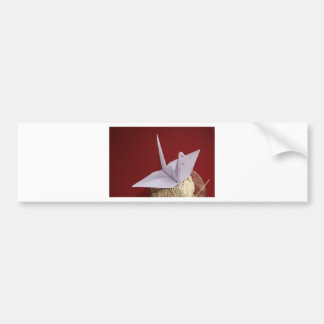eleganter origami Kran Autoaufkleber
