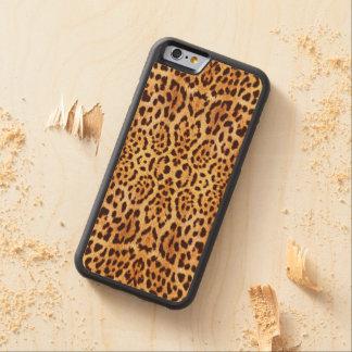 eleganter Pelz des Leoparden Bumper iPhone 6 Hülle Ahorn