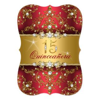 Eleganter Perlen-Damast karminrotes rotes Karte