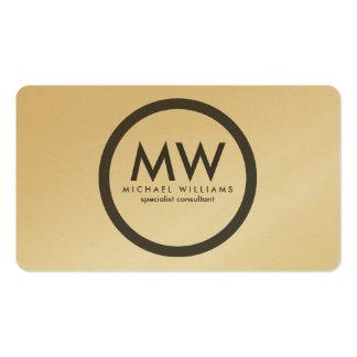 Eleganter Professioneller Kreis einfaches minimale Visitenkarten