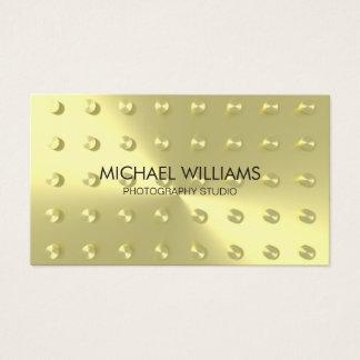 Eleganter Professioneller Vergoldet Metall Visitenkarte
