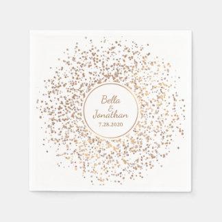 Eleganter romantischer Hochzeits-Gold-u. Papierservietten