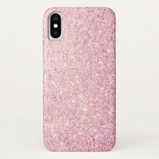 Eleganter rosa Glitzer-Luxus iPhone X Hülle