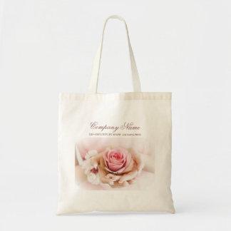 eleganter rosa Rosen-Blumen-Hochzeitsflorist Tragetasche