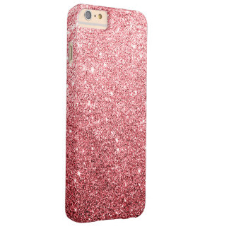 Eleganter roter Glitter-Luxus Barely There iPhone 6 Plus Hülle