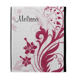 Eleganter roter Schwarz-weißer BlumeniPad