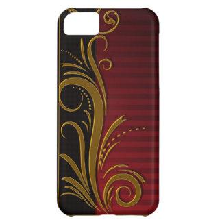 Eleganter roter, schwarzer und goldener iPhone 5C hülle