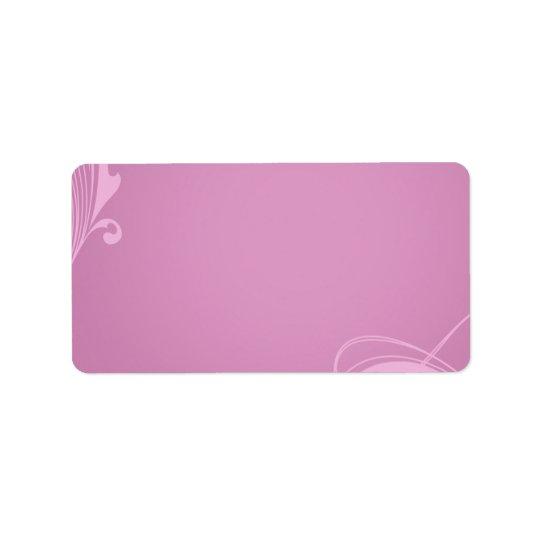 Eleganter sahniger rosa Wirbel Adressaufkleber