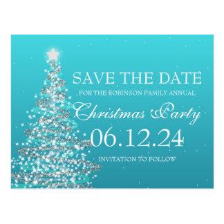 Eleganter Save the Date WeihnachtsParty-Türkis Postkarte