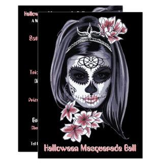 eleganter Schädel Halloween cinco Des Mayo Zucker Karte