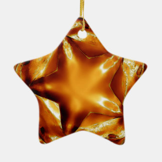 Eleganter schicker kupferner Goldweihnachtsstern Keramik Ornament