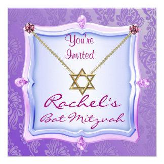 Eleganter Schläger Mitzvah Einladungen