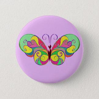 eleganter Schmetterling Runder Button 5,1 Cm