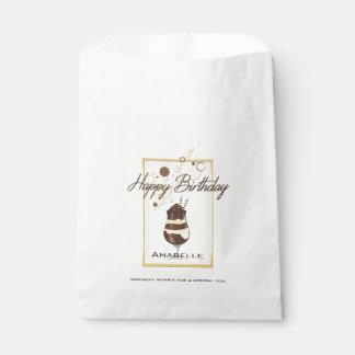 Eleganter Schokoladen-Vanille-Getränk-Geburtstag Geschenktütchen