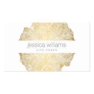 Eleganter Schönheits-Goldbaum-Ring Visitenkarten