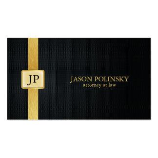 Eleganter Schwarz-und Goldrechtsanwalt am Gesetz Visitenkarten Vorlagen