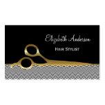 Eleganter Schwarz-und Goldsparren-Friseursalon Visitenkarten