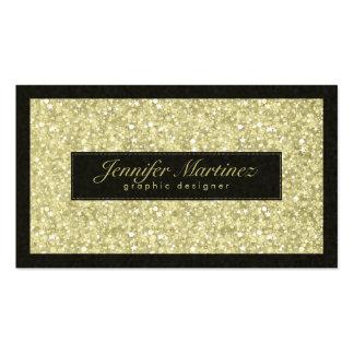 Eleganter Schwarz-und Goldton-Glitter u. Glitzern Visitenkarte