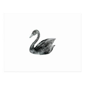 Eleganter Schwarz-weißer handgemalter Postkarte