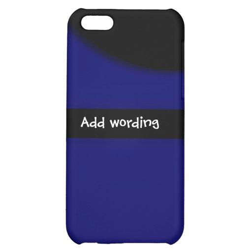 Eleganter schwarzer blauer trendy cooler Klassiker iPhone 5C Hülle
