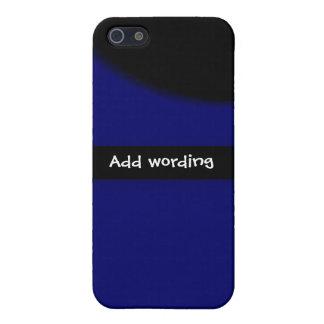 Eleganter schwarzer blauer trendy cooler Klassiker iPhone 5 Schutzhüllen