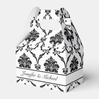 Eleganter schwarzer Damast-kundengerechter Geschenkschachtel