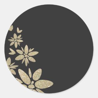 Eleganter schwarzer freier Raum laden mit Runder Aufkleber