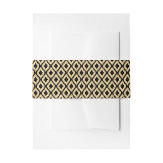 Eleganter schwarzer GoldGlitzer-Stammes- Muster Einladungsbanderole