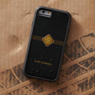 Eleganter schwarzer Hintergrund der Initialen-| Tough Xtreme iPhone 6 Hülle