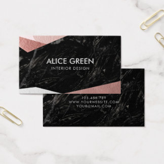 Eleganter schwarzer Marmor Visitenkarte