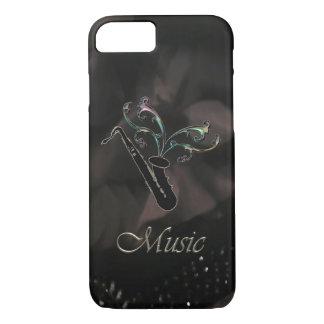 Eleganter schwarzer Saxophon iPhone 7 Kasten iPhone 8/7 Hülle